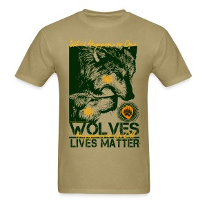 Wolves Lives Matter™ - Love Our Brother, Ma'iingan - Men's T-Shirt