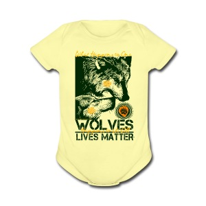Wolves Lives Matter™ - Love Our Brother, Ma'iingan - Short Sleeve Baby Bodysuit