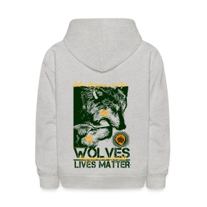 Wolves Lives Matter™ - Love Our Brother, Ma'iingan - Kids' Hoodie
