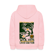 Sweatshirts ~ Kids' Hoodie ~ Wolves Lives Matter™ - Love Our Brother, Ma'iingan