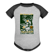 Baby Bodysuits ~ Baby Contrast One Piece ~ Wolves Lives Matter™ - Love Our Brother, Ma'iingan