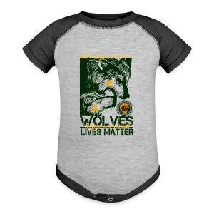 Wolves Lives Matter™ - Love Our Brother, Ma'iingan - Baby Contrast One Piece