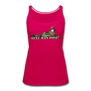 Ladies Sexy Man Pose Tank Top - Women's Premium Tank Top
