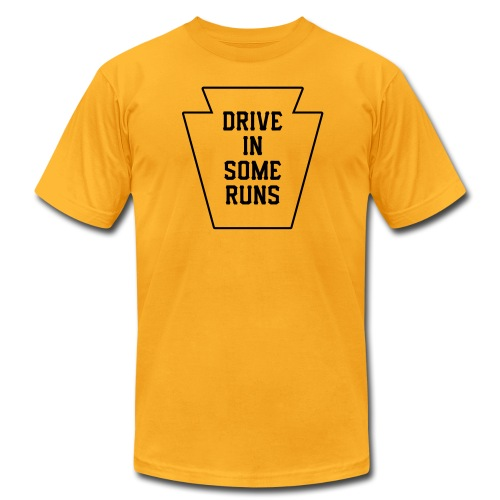Drive in Some Runs (Pittsburgh) - Men's Fine Jersey T-Shirt
