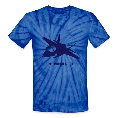 F-35 Lightning II With bobsurgranny print. - Unisex Tie Dye T-Shirt