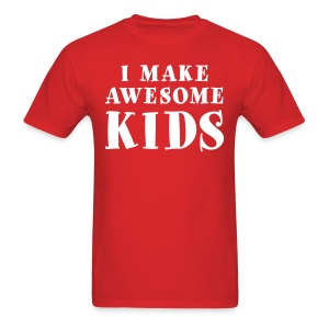 I Make Awesome Kids Men's Shirt - White Lettering - Men's T-Shirt