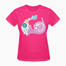French Horn Pretty Gift Women's T-Shirts