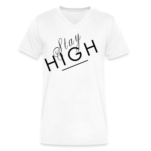 Stay High Men's V-Neck Tee - Men's V-Neck T-Shirt by Canvas
