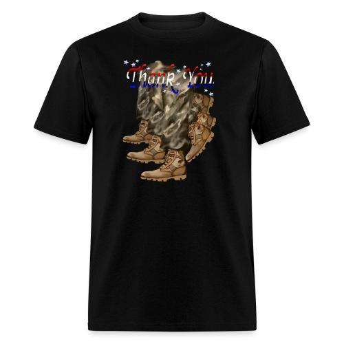 Thank You Veterans Boots - Men's T-Shirt