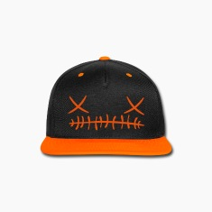 Cross stitch Face Cap (Orange)