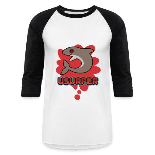 Usurper White and Black - Baseball T-Shirt