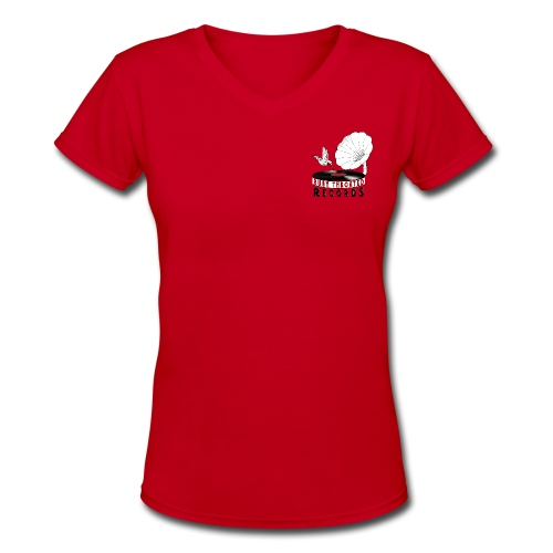 ladies  v-neck t-shirt   - Women's V-Neck T-Shirt