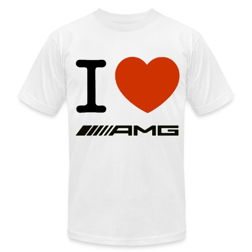 I LOVE AMG Men's T-Shirt by American Apparel - Men's  Jersey T-Shirt