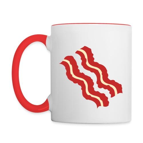 Bacon Strips Two-Color Mug - Contrast Coffee Mug