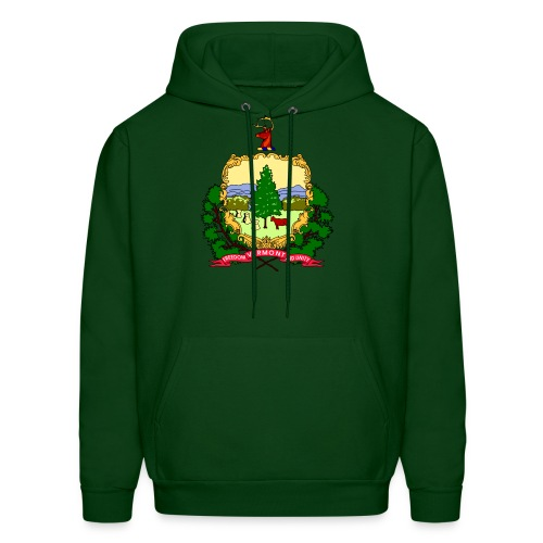 Vermont Coat of Arms Forest Green Sweatshirt - Men's Hoodie