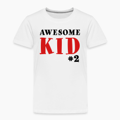 Awesome Kid #2 Toddler Shirt - Black & Red Letteri