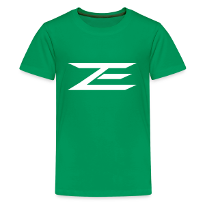 Zach Logo Shirt (Throwback Green) - Kids' Premium T-Shirt