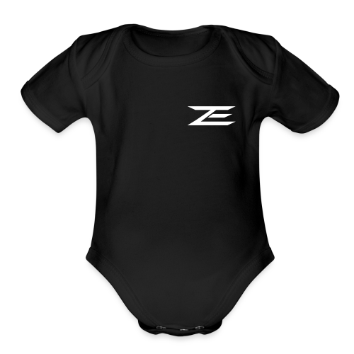 Zach Logo One Piece - Organic Short Sleeve Baby Bodysuit