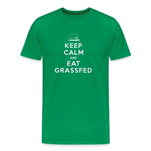 Keep Calm and Eat Grassfed T-Shirt - Men's Premium T-Shirt