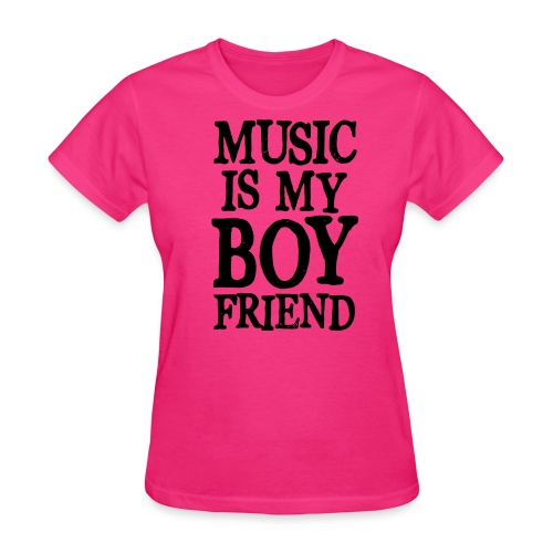 Music is my Boy Friend - Women's T-Shirt