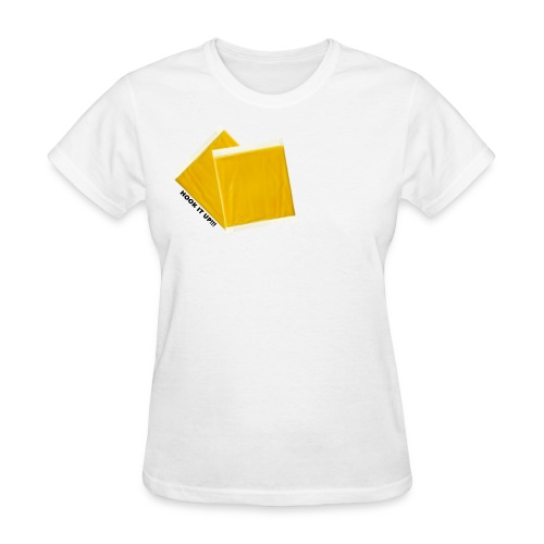 Hook It Up!!! Two Slices of Cheese - Women's T-Shirt