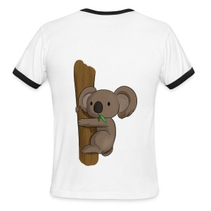 Koala Men's T-Shirt by TEGOBI - Men's Ringer T-Shirt