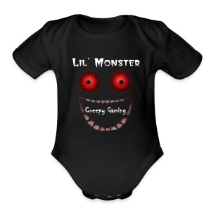 Lil' Monster Creepy Gaming BABIES - Short Sleeve Baby Bodysuit