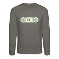 Long Sleeve Shirts ~ Men's Crewneck Sweatshirt ~ In Detroit We Trust