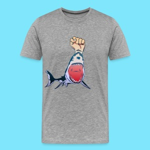 FistShark Marketing Logo Men's T-Shirt (Grey) - Men's Premium T-Shirt