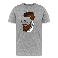 T-Shirts ~ Men's Premium T-Shirt ~ DanQ8000 Beard Logo Shirt - Men's