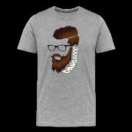 T-Shirts ~ Men's Premium T-Shirt ~ DanQ8000 Beard Logo Shirt - Men's