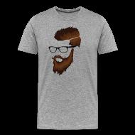 T-Shirts ~ Men's Premium T-Shirt ~ DanQ8000 Beard Logo Shirt (No Letters)