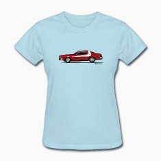 Gran Torino Striped Tomato Red Undercover Cop Car Women's T-Shirts