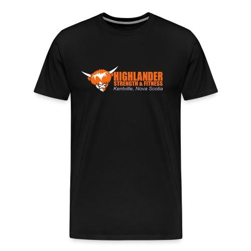 Highlander cropped logo (front + back) - Men's Premium T-Shirt