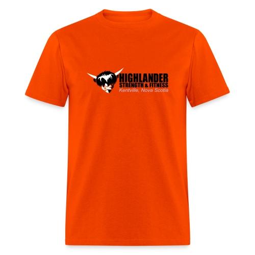 Highlander cropped logo (front + back) - Men's T-Shirt
