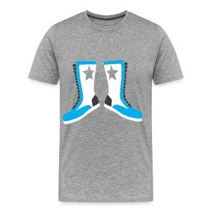 Boots (Blue) - Men's Premium T-Shirt