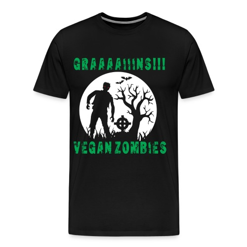 GRAAAAIIIINS Vegan Zombie - Men's Premium T-Shirt