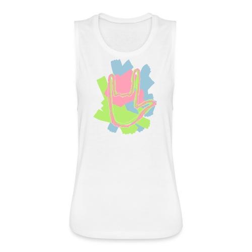 Pastel Rock On Muscle Tank - Women's Flowy Muscle Tank by Bella