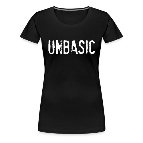 Unbasic Tee - Black - Women's Premium T-Shirt