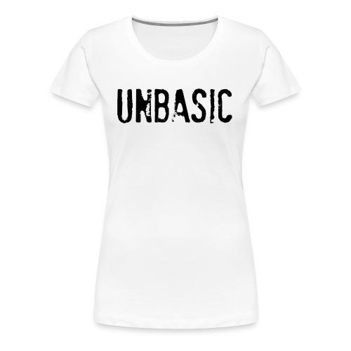 Unbasic Tee - White - Women's Premium T-Shirt