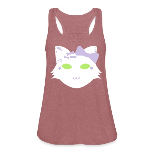Decora Cat Mascot Flowy Tank - Women's Flowy Tank Top by Bella