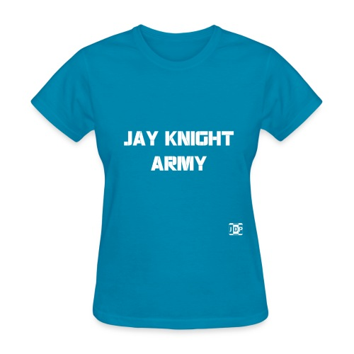 Jay Knight Army Shirt (White Logo and Text) - Women's T-Shirt