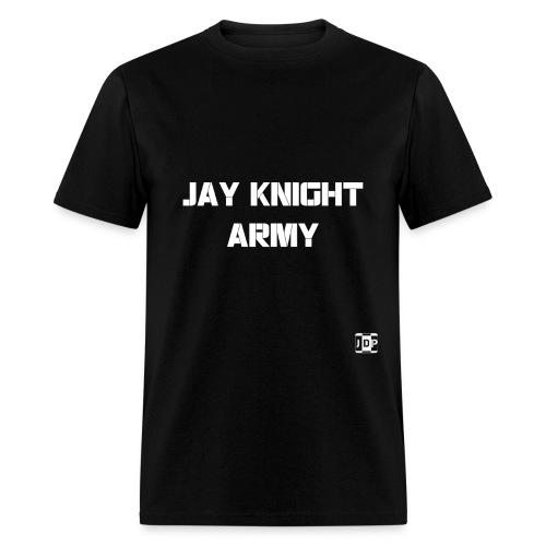 Jay Knight Army Shirt (White Logo and Text) - Men's T-Shirt