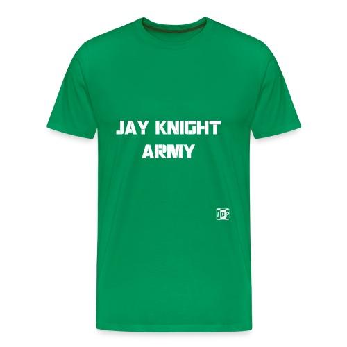 Jay Knight Army Shirt (White Logo and Text) - Men's Premium T-Shirt