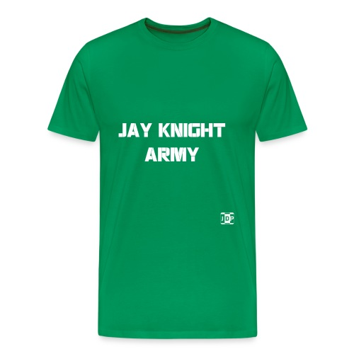 Jay Knight Army Shirt (White Logo and Text) - Men's Premium T-Shirt
