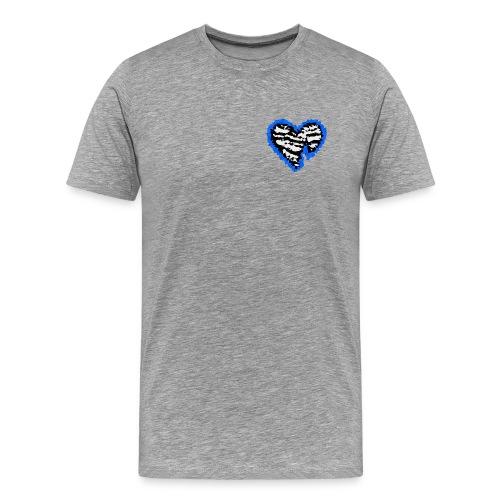 Polygon Heartbreak (Blue) - Men's Premium T-Shirt