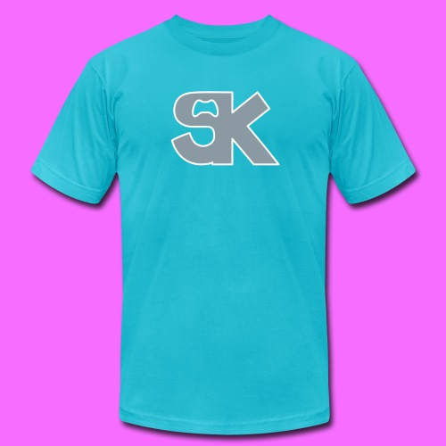 Metallic Silver SK Controller Logo Tee (High Quality) Hacked By @TrippyZero - Men's Fine Jersey T-Shirt