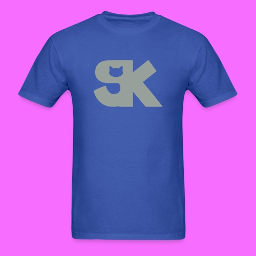 Metallic Silver SK Cat Logo Tee Hacked By @TrippyZero - Men's T-Shirt