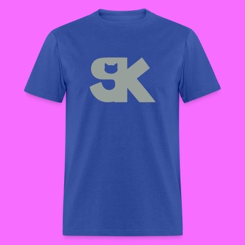 Metallic Silver SK Cat Logo Tee Hacked By @TrippyZero - Men's T-Shirt