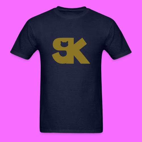 Metallic Gold SK Cat Logo Tee Hacked By @TrippyZero - Men's T-Shirt